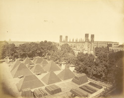 St Peter's Church and Arsenal Yard, Fort William, Calcutta.